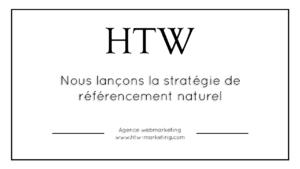 Nous lançons la stratégie de référencement naturel