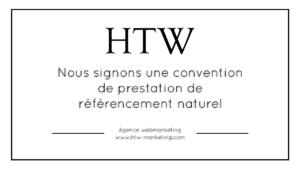 Nous signons une convention de prestation de référencement naturel