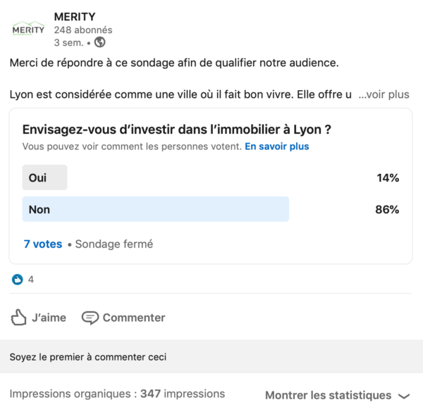 screen sondage Linkedin